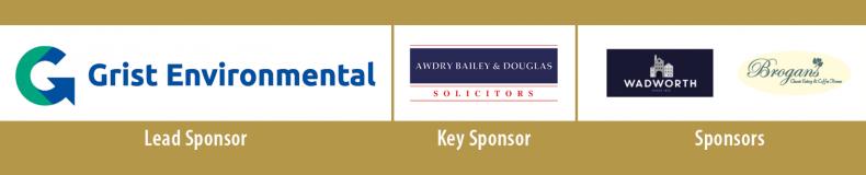 Sponsor logos - Grist Environmental, Awdry Bailey & Douglas, Wadworth, Brogans